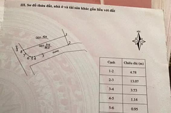 Sang đất 96m2 tặng 4 phòng trọ phường Khai Quang