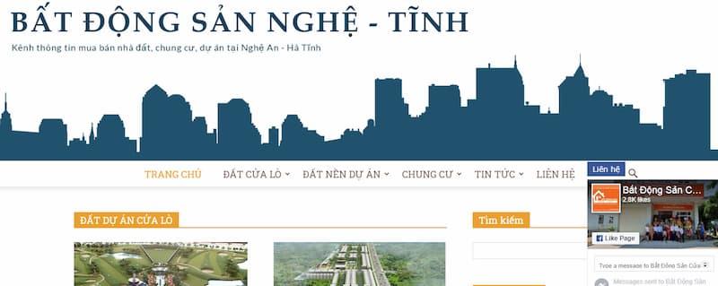 trang chu website bdsnghetinh.com
